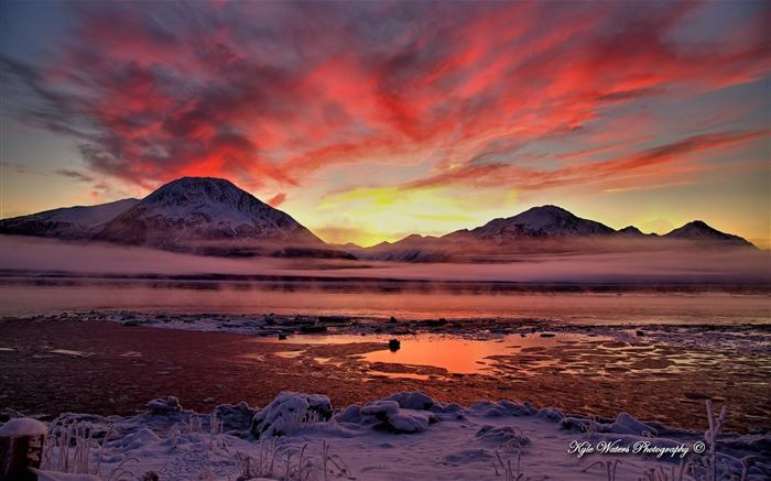 Beautiful Alaska natural scenery desktop wallpaper 02 Views:9012 Date:5/6/2013 10:30:06 PM