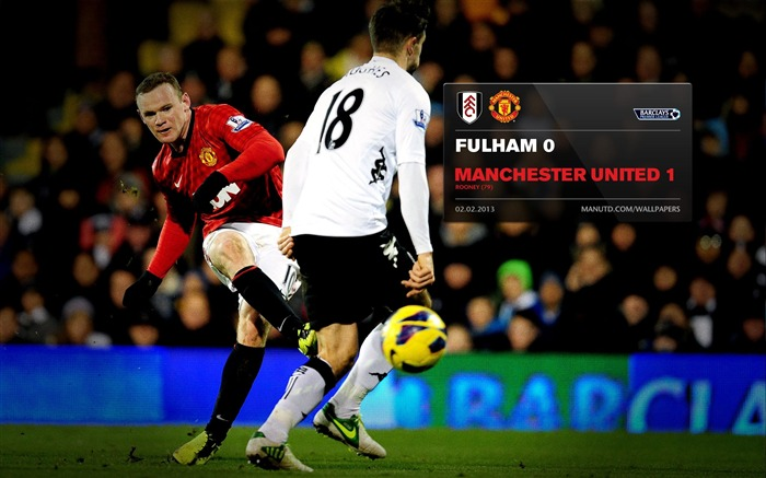 Fulham 0 Manchester United 1-2012-13 champion Wallpaper Views:4637 Date:5/3/2013 10:53:09 PM