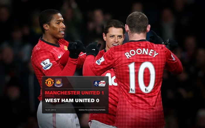 Manchester United 1 West Ham 0-2012-13 champion Wallpaper Views:4769 Date:5/3/2013 10:56:02 PM