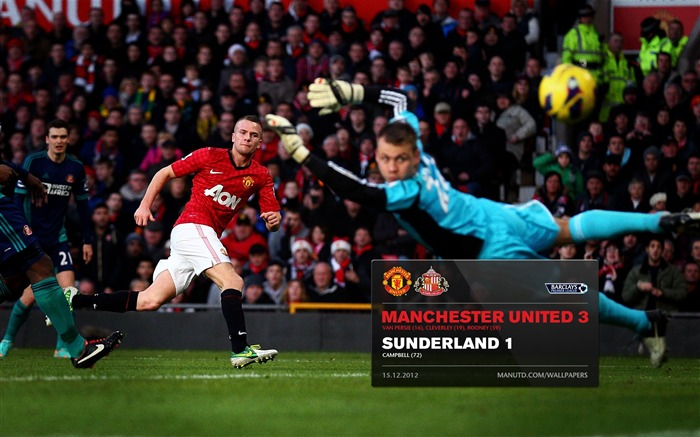 Manchester United 3 Sunderland 1-2012-13 champion Wallpaper Views:4596 Date:5/3/2013 11:03:43 PM