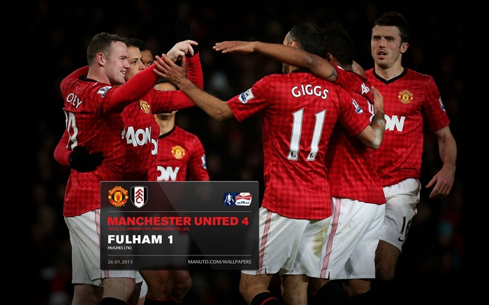 Manchester United 4 Fulham 1-2012-13 champion Wallpaper Views:3945 Date:5/3/2013 11:05:09 PM
