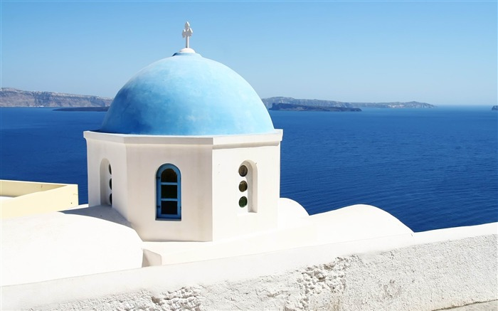 Greece travel landscape photography widescreen wallpaper Views:12892