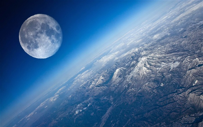 earth and moon-Space Universe Photography Wallpaper Views:9208