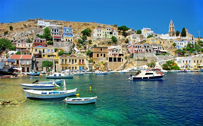 greece coast view-Greece Travel photography wallpaper Views:8507