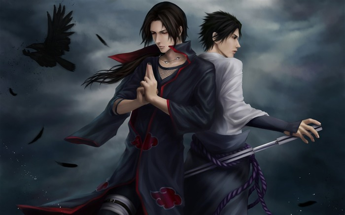 guys meditation crows darkness-Anime design HD wallpaper Views:7314