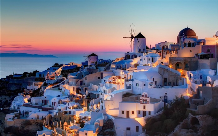 night in santorini-Greece Travel photography wallpaper Views:10444