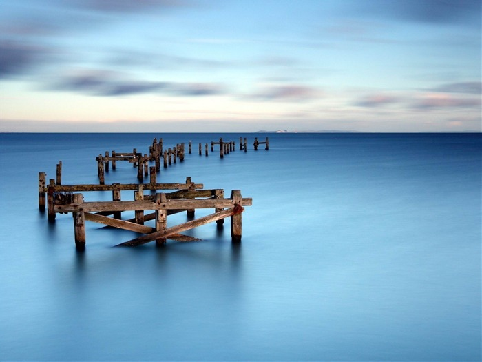 sea boards surface horizon line-landscape widescreen wallpaper Views:4517