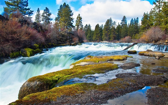 superb cascade-Landscape widescreen wallpaper Views:4186 Date:5/7/2013 10:50:11 PM