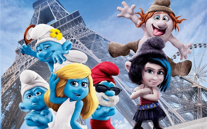 2013 The Smurfs 2 Movie HD Desktop Wallpaper Views:9578