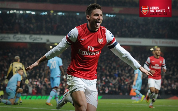Arsenal 5-1 West Ham United-2013 Arsenal HD Wallpaper Views:5490 Date:6/16/2013 11:20:31 AM