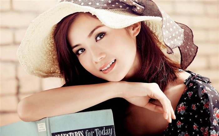 Fresh and beautiful oriental beauty girl HD photo wallpaper Views:19108