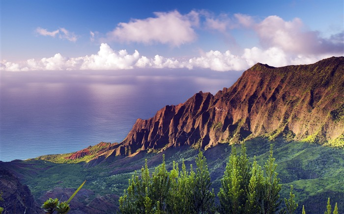 Beautiful Hawaiian Islands landscape HD Wallpaper Views:12410
