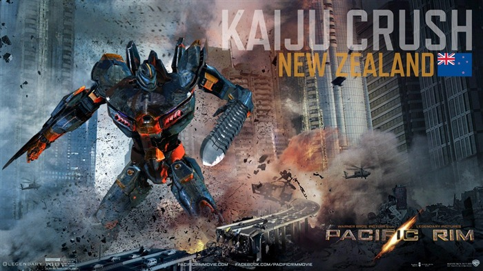 Kaiju Crush New Zealand-Pacific Rim 2013 Movie HD Desktop Wallpaper Views:4361