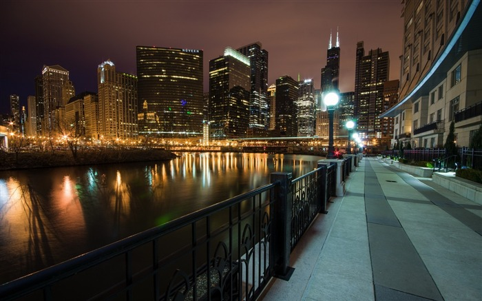 USA Illinois Chicago Wolf Point-city photography HD Wallpaper Views:2584