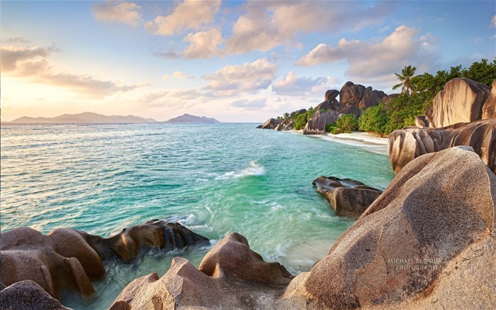 Seychelles island scenery beautiful HD wallpaper Views:33157