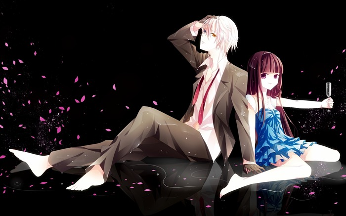 boy girl romance petals-2013 Anime HD Wallpaper Views:10094