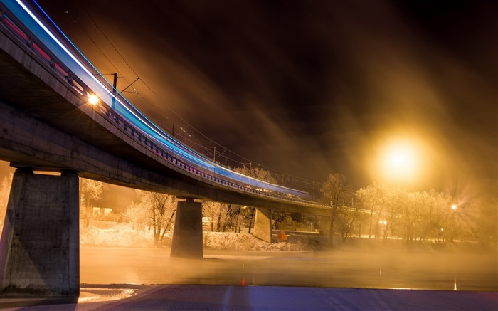 bridge night lights city-Photography HD wallpaper Views:7589 Date:6/20/2013 10:04:05 PM