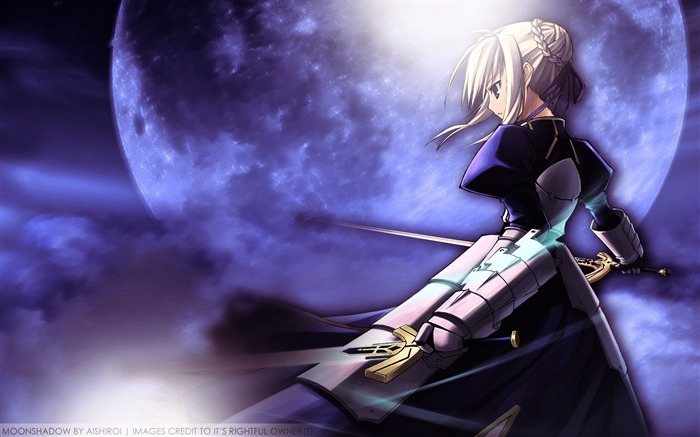fate stay night saber sky sword moon-2013 Anime HD Wallpaper Views:3818