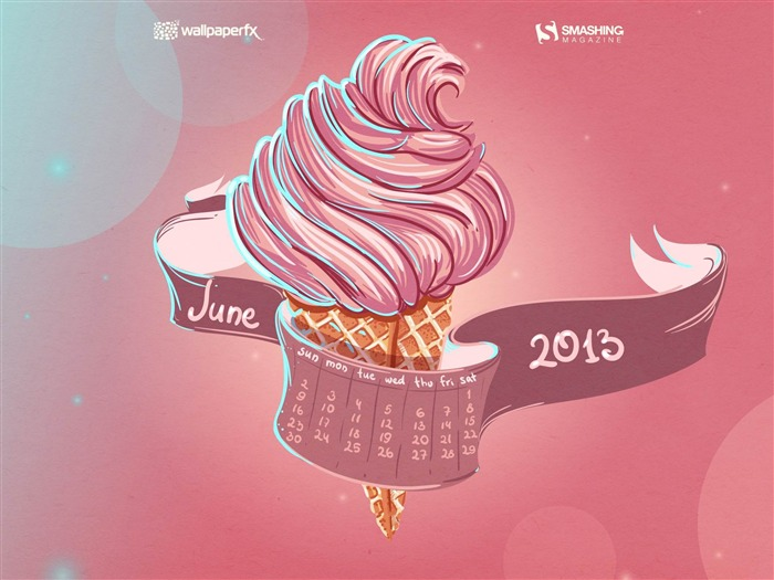 June 2013 calendar desktop themes wallpaper Views:9198