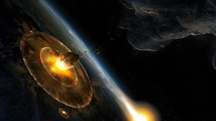 planet explosion asteroids-Space Photography HD Wallpaper Views:4491