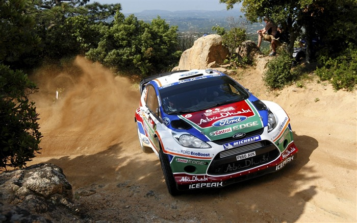 rally wrc dust fiesta ford-Sports HD Widescreen Wallpaper Views:9787 Date:6/23/2013 11:40:01 AM
