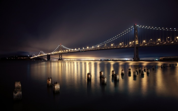 san francisco night bridge-Photography HD wallpaper Views:4852 Date:6/20/2013 10:13:31 PM