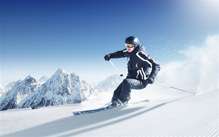 ski mountains snow-Sports HD Widescreen Wallpaper Views:18656 Date:6/23/2013 11:40:44 AM
