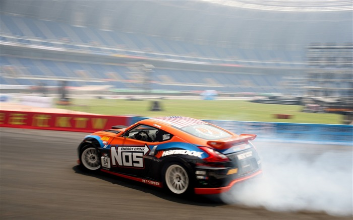 smoke drift nissan-Sports HD Widescreen Wallpaper Views:5244 Date:6/23/2013 11:41:23 AM