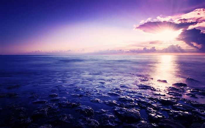 sunrise and sea-Landscape photography wallpaper Views:2452