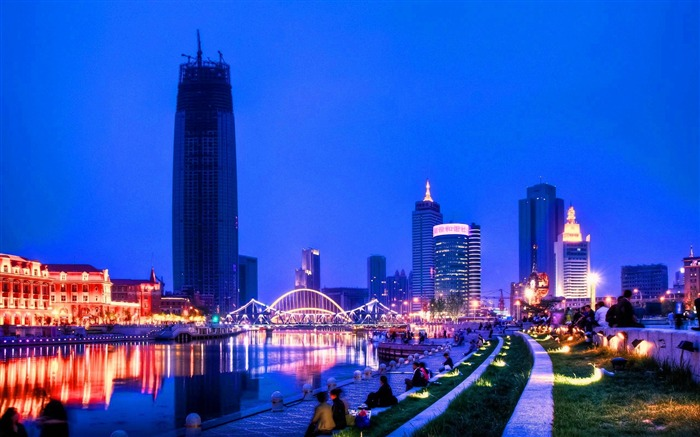 tianjin china skyscrapers-city photography HD Wallpaper Views:3476