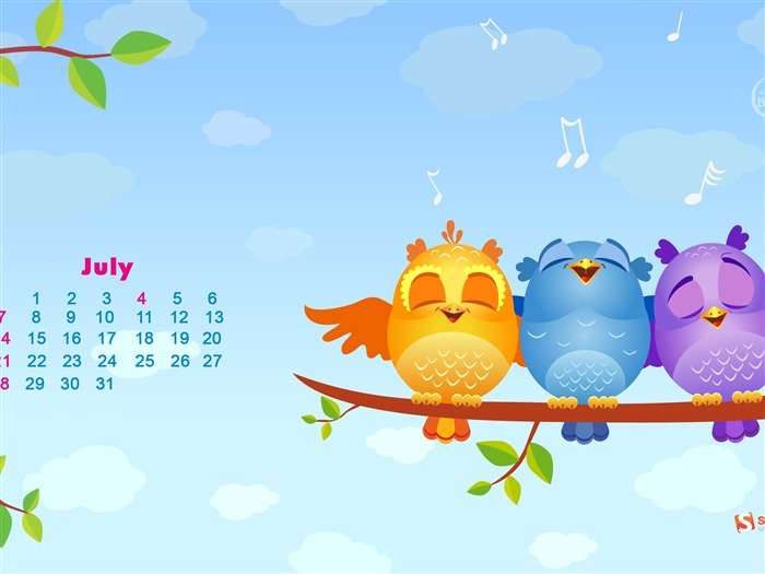 July 2013 calendar desktop themes wallpaper Views:12920