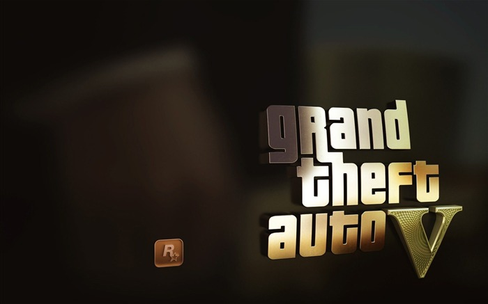 Gta 5 Gold-2013 Game HD Wallpaper Views:12437