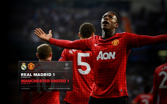 Real Madrid 1 Manchester United 1-FA Premier League 2012-13 Wallpaper Views:3367