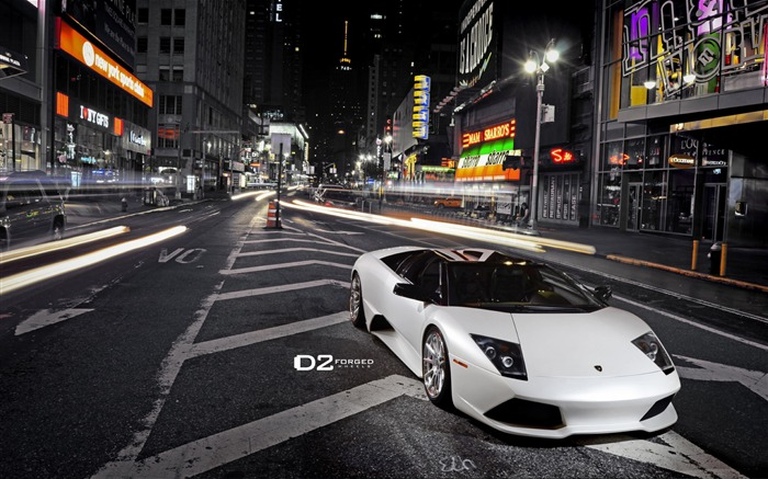 Times Square Lamborghini Murcielago LP640 wallpaper Views:8997