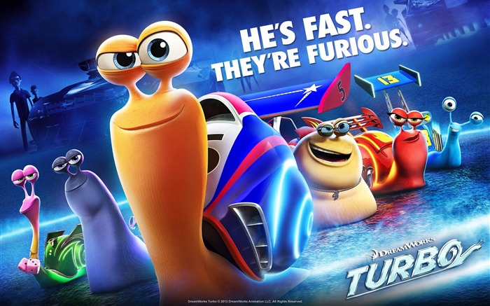 Turbo 2013 Movie HD Desktop Wallpaper Views:7144