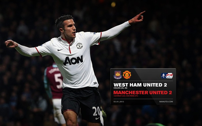 West Ham United 2 Manchester United 2-FA Premier League 2012-13 Wallpapers Views:1895