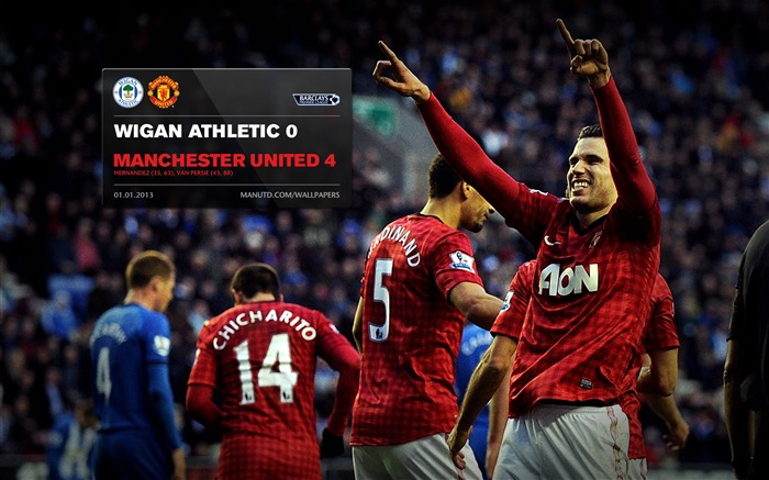 Wigan Athletic 0 Manchester United 4-FA Premier League 2012-13 Wallpapers Views:1812