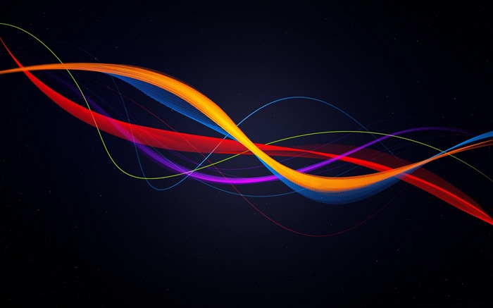 colorful waves-Abstract design HD wallpaper Views:5951 Date:7/13/2013 12:25:55 PM