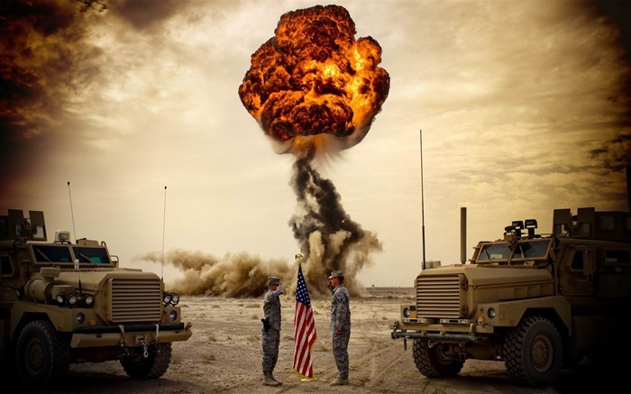 explosion-Military Widescreen Wallpaper Views:6263