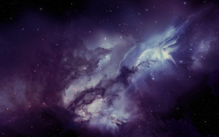 galaxy nebula blurring stars-Space HD Wallpaper Views:9467