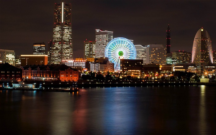 japanese city at night-Cities HD Widescreen Wallpaper Views:6979 Date:7/14/2013 11:03:53 PM