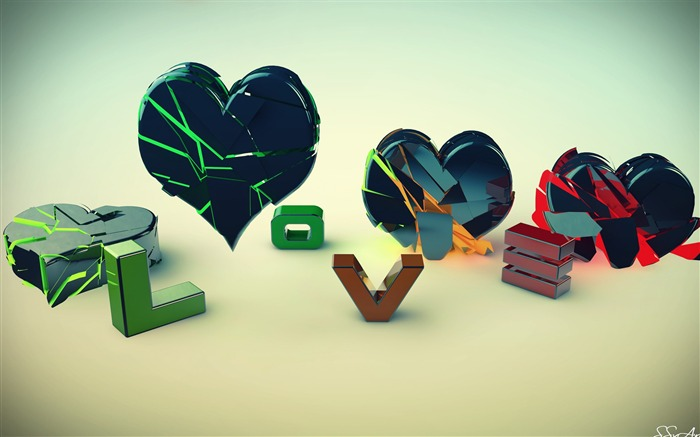 love and heart-Abstract design HD wallpaper Views:4086