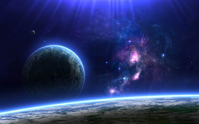 Space Discovery HD Widescreen Desktop Wallpaper Views:16475