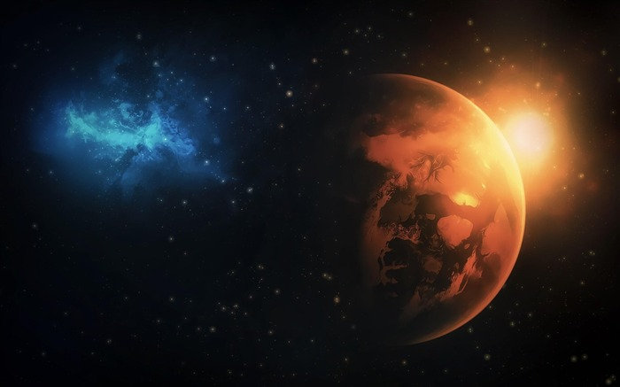 planets stars-Space Discovery HD Wallpaper Views:3239