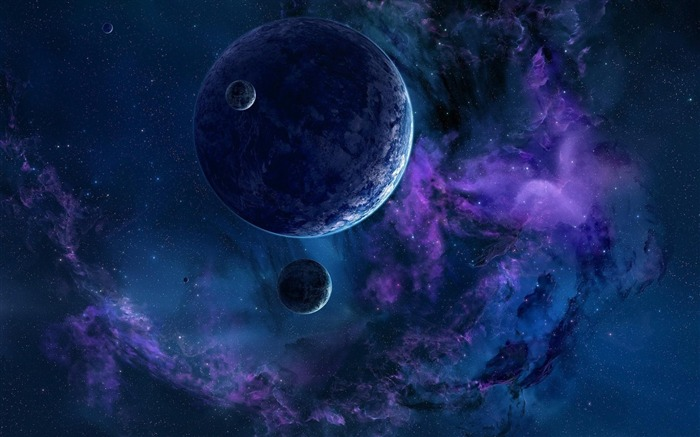 planets stars nebulae universe-Space HD Wallpaper Views:5661