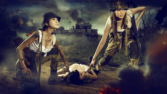 soldiers at war-Military Widescreen Wallpaper Views:3995