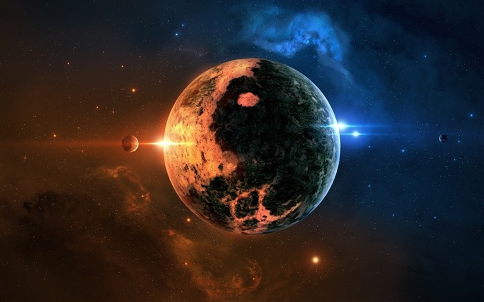 space planet-Space HD Wallpaper Views:5074