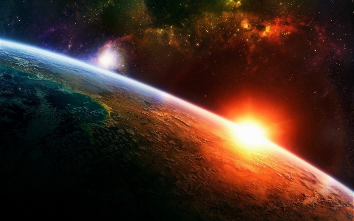 sunlight surface earth stars-Space HD Wallpaper Views:4643