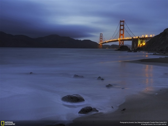 Golden Blue Hues-National Geographic Wallpaper Views:3154