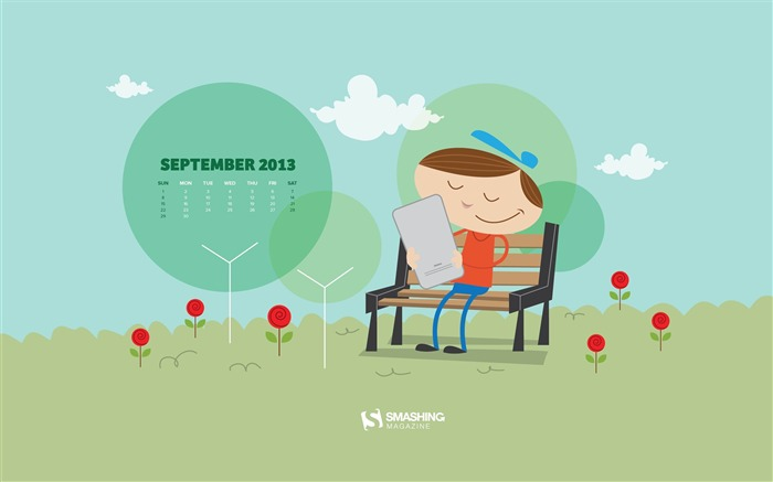 September 2013 calendar desktop themes wallpaper Views:23682